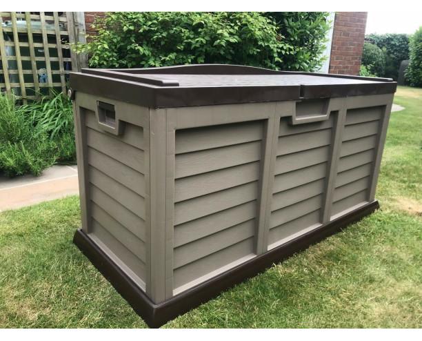 Starplast Outdoor Garden Storage Chest Cushion Box 440L Sit On Lid