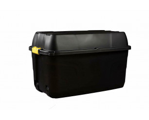 Storage Box Heavy Duty Plastic Garden Trunk On Wheels Strata 175 Litre Lockable