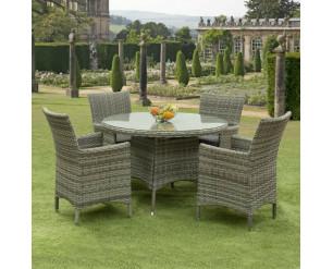 Sarasota Rattan Garden Dining Set - 4 Seater Grey