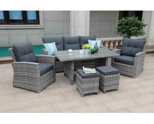Sarasota 7 seat Lounge set - Grey