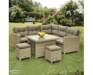 Sarasota Mini Modular Corner lounge dining set - Natural