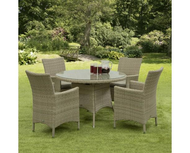 Sarasota Rattan Garden Dining Set - 4 Seater Natural