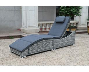 Sarasota Folding Sun lounger - Grey