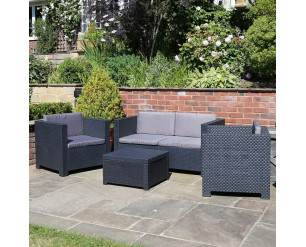Shaf Diva Plastic Rattan Garden Furniture Set
