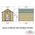 Shire Overlap 8x6 DD Value