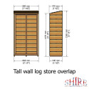 Shire Tall Wall Log Store Sawn PT