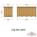 Shire Log Box Sawn PT
