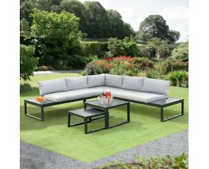Sicily L Shape Sofa Lounge Set, L Sofa, Nesting Tables