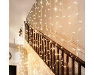 306 LED Curtain Fairy Lights Indoor/Outdoor Wedding Party Garden Decor Christmas WARM WHITE