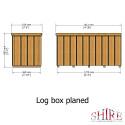 Shire Log Box Planed Timbers PT