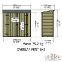 Shire Overlap Pressure Treated Pent 6x3