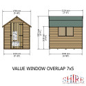 Shire Overlap 7x5 SD Value with Window