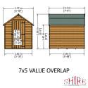 Shire Overlap 7x5 SD Value