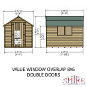 Shire Overlap 8x6 DD Value With Window
