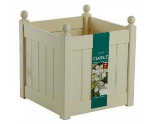 "AFK Classic Painted Garden Planter Heavy Duty Plastic Liner 18"" Cream"