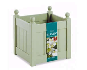 """AFK Classic Painted Garden Planter Heavy Duty Plastic Liner 18"""" Heritage Sage"""