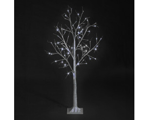 Christmas Birch Tree 4ft Twinkling LED's, In or Outdoor, Ice White