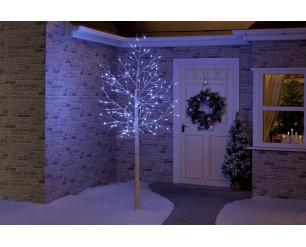 Christmas Birch Tree 1.2m with Ice White