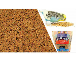 Bucktons Budgie Food with Spiralife 500g Budgie, Budgerigarr Parakeet Seed - 0.5kg (500g) - 1 Pack