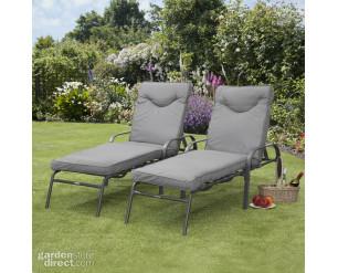 Candosa Garden Furniture - Pair of Sunloungers