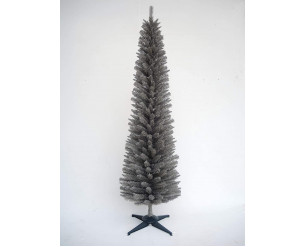 E-Stores Direct 5ft 6ft 7ft 8ft Grey Pine Pencil Slim Artificial Christmas Tree (8ft/240cm)