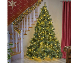 SHATCHI 4ft Pre-Lit Kentucky Pine Luxurious Artificial Green Christmas Tree Bushy Xmas Holiday Home Decoration With Long life Energy Saving Warm White LED Lights Last Up To 50,000 hrs