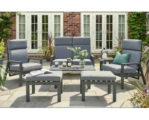 Titchwell Luxury Garden Furniture Flex Reclining Lounge Set
