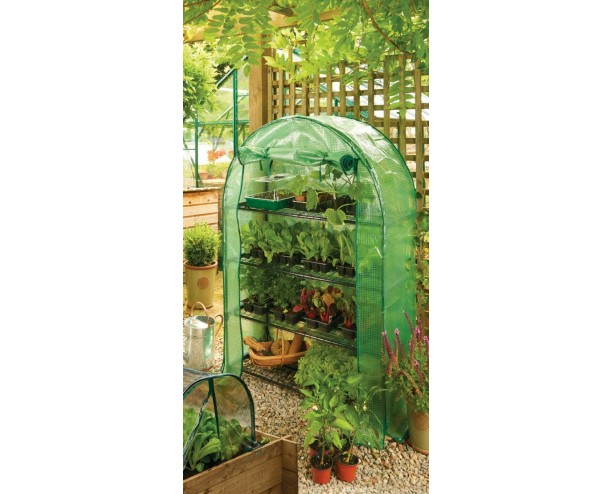 Gardman Grow it Greenhouse 4 Tier Extra Wide Arc Heavy Duty Cover 45x105x160 cm