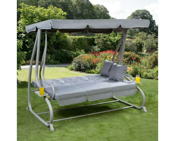 Somerset 3 Seat Swing Hammock - Grey