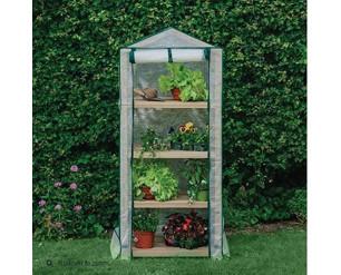 Gardman Grow It Premium 4 Tier Wooden Growhouse