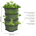 Paul Potato Starter Potato Tower - Dark Green - 4 Tier