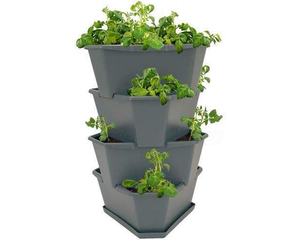 Paul Potato Starter Potato Tower - Grey - 4 Tier