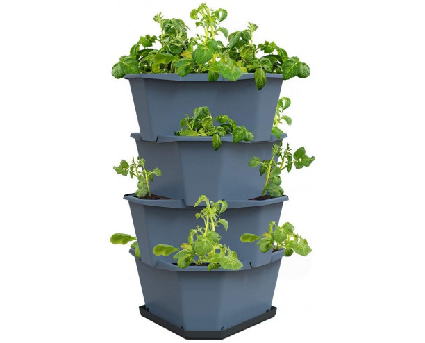 Paul Potato Starter Potato Tower - Blue - 4 Tier