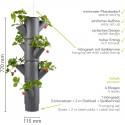 Sissi Strawberry Planter Hanging - Grey