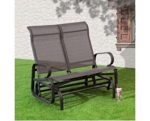 Suntime Havana Twin Glider Seat Garden Rocking Chair Charcoal