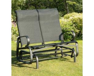 Suntime Havana Twin Glider Seat Garden Rocking Chair Black