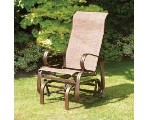 Suntime Havana Single Glider Seat Garden Rocking Chair Bronze