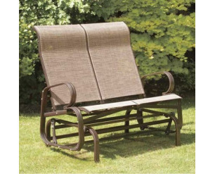 Suntime Havana Twin Glider Seat Garden Rocking Chair Bronze