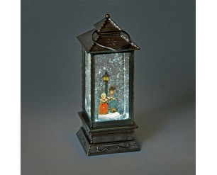 27cm Lantern w/Carol Singers