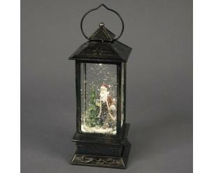 27cm Lantern w/Santa Scene