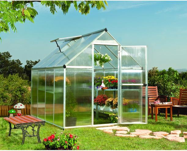 Palram Mythos Greenhouse 6x8 - Silver