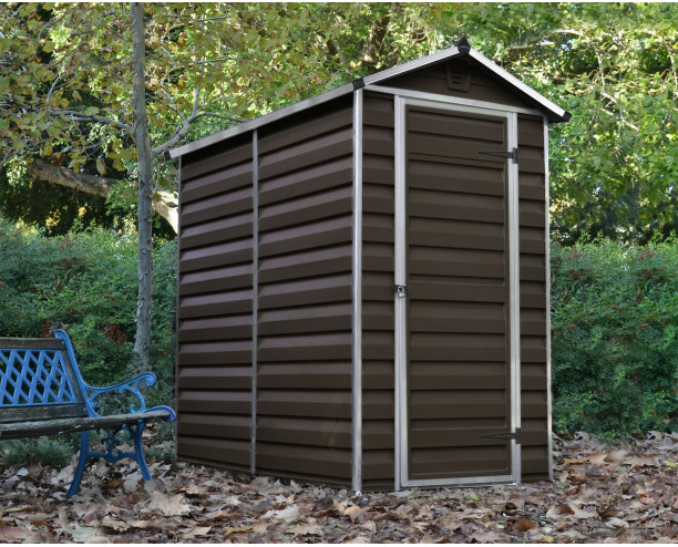 Palram- Canopia Skylight Brown Shed 4x6