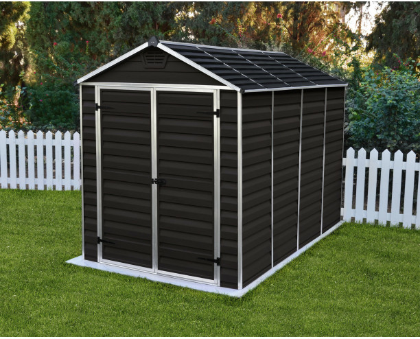Palram-Canopia Skylight Brown Shed 6x10