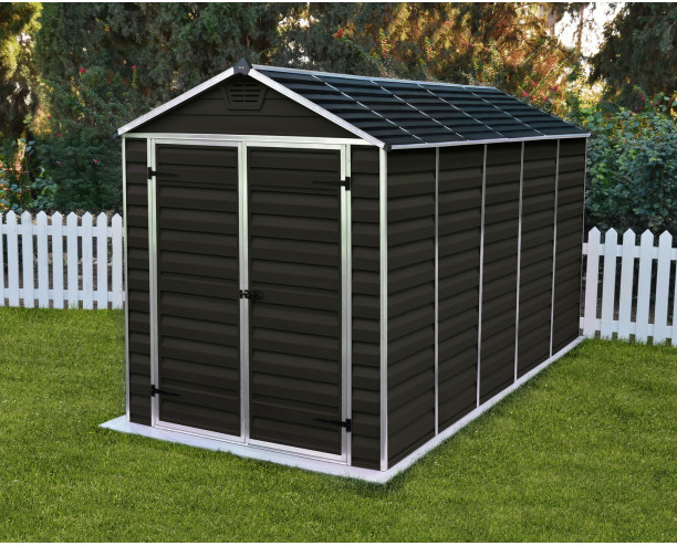 Palram-Canopia Skylight Brown Shed 6x12