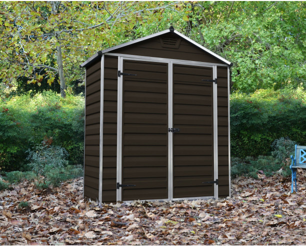 Palram-Canopia Skylight Brown Shed 6x3