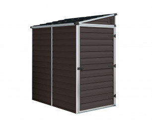 Palram-Canopia Skylight Brown Shed 6x4 Pent