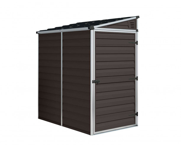 Palram Skylight Brown Shed 6x4 Pent