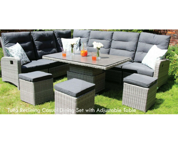 Tulla Reclining Corner Lounge/Dining Set