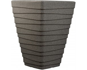 GSD Sankey Tall Square Trojan Planter - Granite