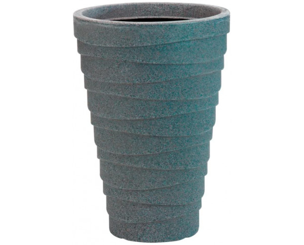 GSD Strata Small Trojan Planter Granite